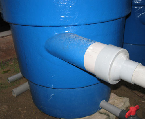 inlet piping from pump