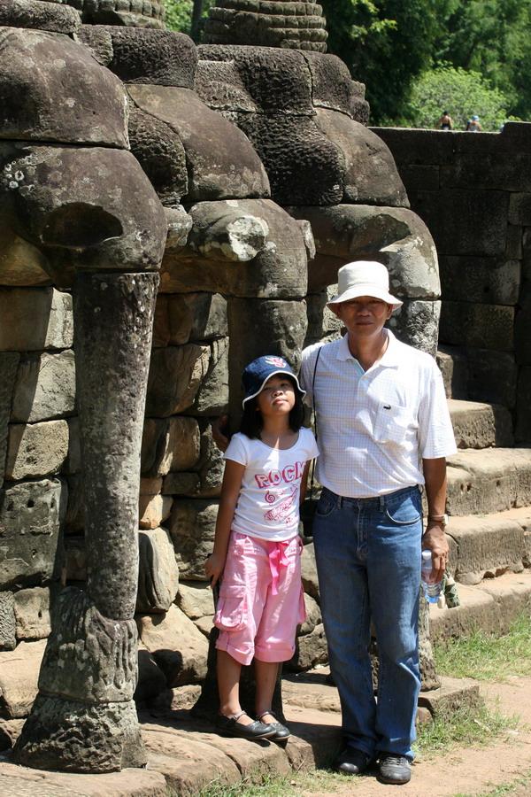Cambodia, Siem Reap, Angkor Wat, Angkor Thom, Elephant Terrace